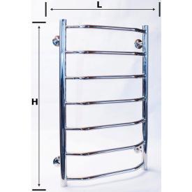 Водяной полотенцесушитель для ванной лестница трапеция 700х400