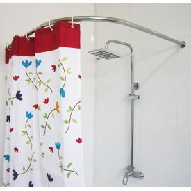 Карниз в ванную для поддона 100x100 г-образный Комфорт Ф25