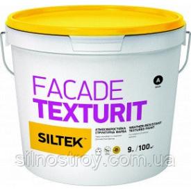 Атмосферостійка структурна фарба Siltek Facade Texturit 9 л