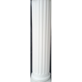 Колонна с канелюрами античная круглая средняя секция глянцевая 30х113 см белая