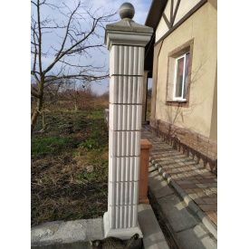 Секция колонны квадратной 30х30х25 см серая