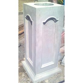 Столбик классический 84х30х30 см серый