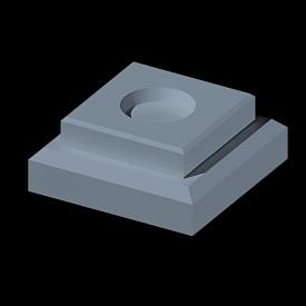 Стакан квадратный большой белый для нижнего крепления 24х24х10 см