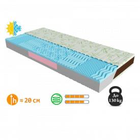 Ортопедичний безпружинний матрац Take&Go Bamboo Neo Blue 160х190