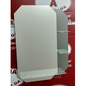 Зеркало с тонированным декором фигурное №42 (800х580x120 мм)