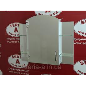 Зеркальный шкаф для ванной с открытыми полками по бокам Эконом №69