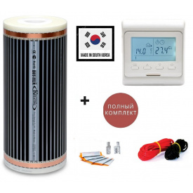 Электро подогрев пола Hot Film 6 м2(ширина 100 см) 1760 Вт 220 Вт/м2 с программируемым терморегулятором E51