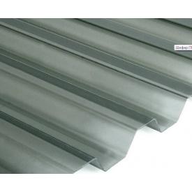 Прозрачный шифер ПВХ Salux WHR 70/18 1,8х0,9 м (дымчатый трапеция)