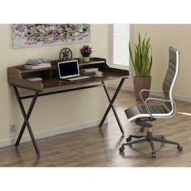 Письменный стол Loft-design L-10 металлический столешница лдсп орех-модена
