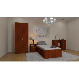 Меблі для спальні Компанит №4 односпальний гарнітур дсп яблуня