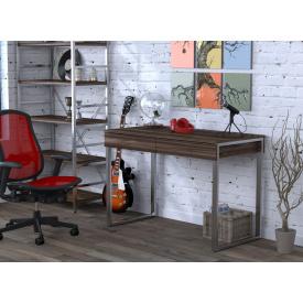 Письменный-компьютернй стол Loft-Design L-11 металлически ножки столешница лдсп орех-модена