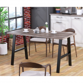 Стол обеденный Атлант Loft-Design Темный дуб-паленка
