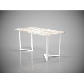 Обідній стіл Tenero Дельта 1600х800 мм вуличний на металевих ніжках нерозкладний прямокутний