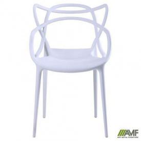 Пластиковый стул белый Viti уличный для кафе садовый обеденный на кухню