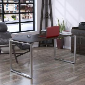 Письменный стол Loft-design Q-160 на металлических ножках хром прямой