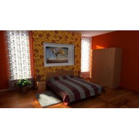 Двоспальні меблі Компанит комплект №3 мдф