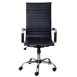 Офісне крісло Richman Балі-Armchair Bali з високою спинкою чорне хром на коліщатках