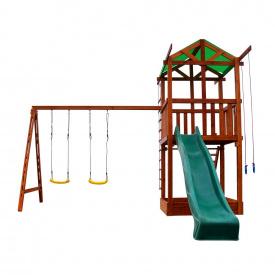 Игровой комплекс SportBaby Babyland-2 детская площадка башня с горкой качелями для улицы