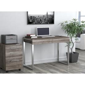 Письменный-компьютернй стол Loft-Design L-11 металлически ножки столешница лдсп дуб-палена