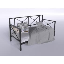 Металевий диван-ліжко з задньою спинкою Тарс Tenero спальний одномісний