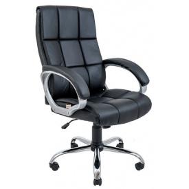 Компьютерное кресло Richman Аризона крестовина-хром механизм качания-М1 кожзам черный
