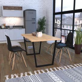 Обідній стіл Трапеція Loft-Design лдсп Світлий дуб-борас