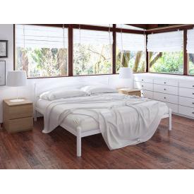Металлическая полуторная кровать Тенеро Маранта 120х200 см белая