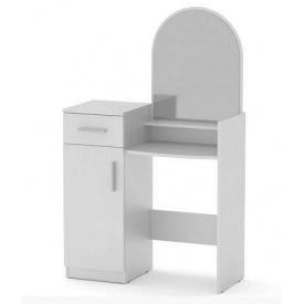 Туалетный столик с зеркалом Компанит Трюмо-1 дсп белый