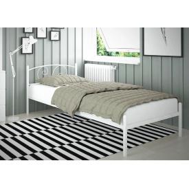 Односпальне ліжко Віола-міні Tenero 80х190 см з поголов'ям на ніжках металева