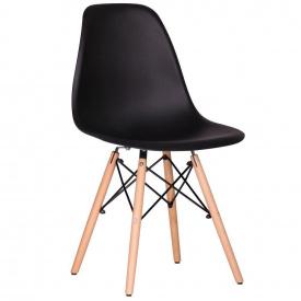 Обеденный стул AMF Aster-RL Wood пластик черный