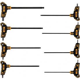 Набор ключей шестигранных с шаровым наконечником VOREL HEX 2,5х10х100х200 мм 8 шт (56629)
