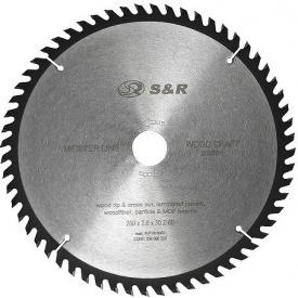 Пильный диск S&R WoodCraft 250 х 30 х 2,6 мм 60Т (238060250)