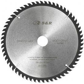 Пильный диск S&R WoodCraft 230 х 30 х 2,4 мм 60Т (238060230)