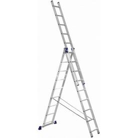 Алюминиевая трехсекционная лестница Техпром H3 5309 3х9