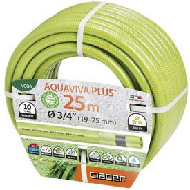 """Шланг поливочный Claber Aquaviva Plus 3/4 """" 25 м салатовый (81871)"""
