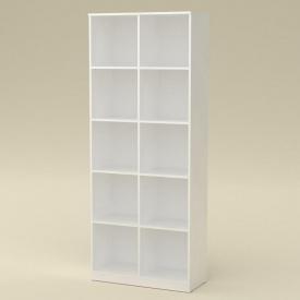 Книжный шкаф витрина Компанит КШ-2 дсп белый цвет