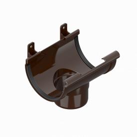 Воронка зливна лійка INES 120 мм RAL 8017 коричневий