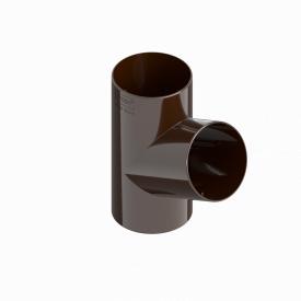 Трійник труби INES 80 мм RAL 8017 коричневий