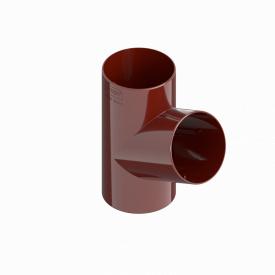 Трійник труби INES 80 мм RAL 3011 червоний