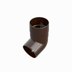 Коліно труби INES 80 мм RAL 8017 коричневий