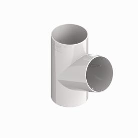 Трійник труби INES 80 мм RAL 9010 білий