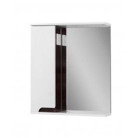 Дзеркало для ванної кімнати СІМПЛ 60 венге ліве з підсвічуванням Пік