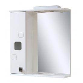 Дзеркало для ванної кімнати КВАДРО 65 ліве з підсвічуванням Пік