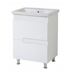 Тумба для ванної кімнати СІМПЛ 70 білий c умивальником КОМО 70