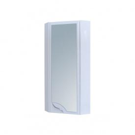 Шафа навісний кутовий для ванної кімнати 30 дзеркало правий БАЗИС