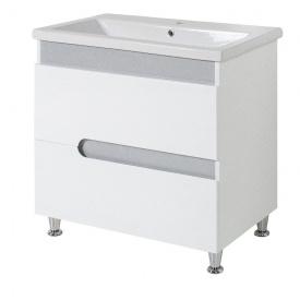 Тумба для ванної кімнати СІМПЛ 80 металік c умивальником КОМО 80