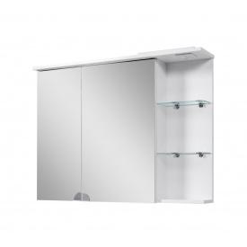 Шафа навісна з дзеркалами для ванної кімнати СІМПЛ 100 LED підсвічування Пік