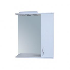 Дзеркало для ванної кімнати БАЗИС 50 праве з підсвічуванням Пік