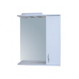 Дзеркало для ванної кімнати БАЗИС 60 праве з підсвічуванням Пік
