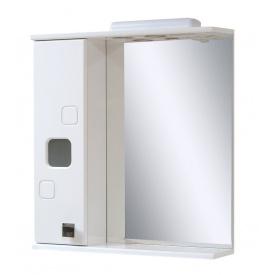 Дзеркало для ванної кімнати КВАДРО 60 ліве з підсвічуванням Пік